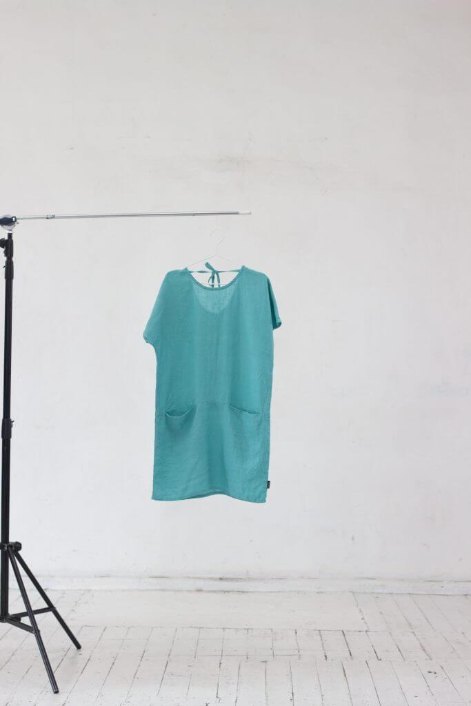 Aqua Lin Robe Felisa - LinenMe