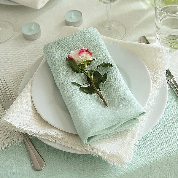 Serviette de table en lin Terra Mint