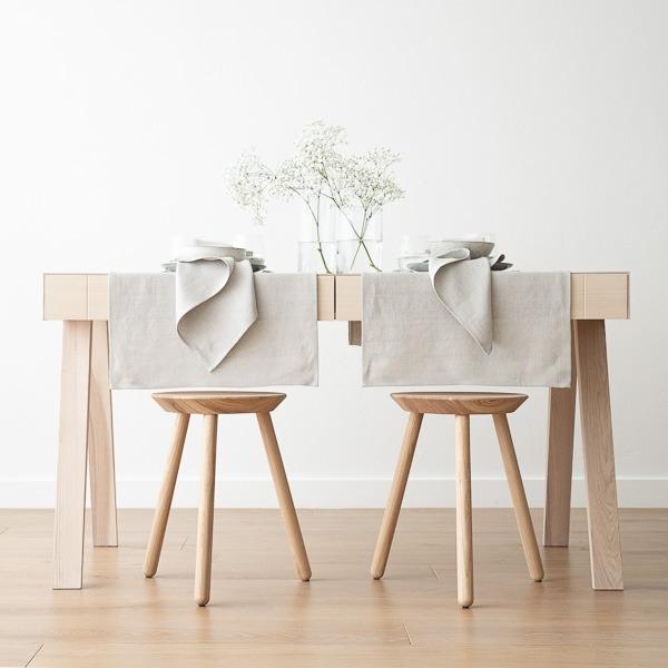 Chemin de Table en Lin Silver Lara