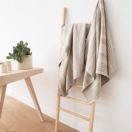 Serviette de douche ou drap de bain 100% lin Lavé Linum Natural