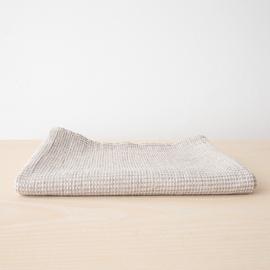 Drap de bain Checkes en lin et coton naturels Beige Wafer