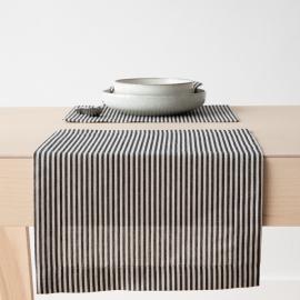 Set de table en lin et coton Jazz à rayures noires