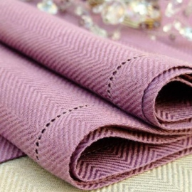 Serviette de table Emilia en lin mauve