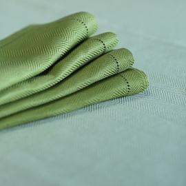 Serviette de table en lin coloris vert forêt Emilia