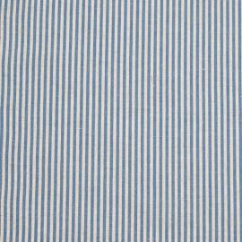 Échantillon de toile de lin et coton à rayures bleues Jazz
