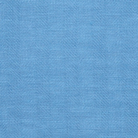 Toile de lin Emilia Bleu royal