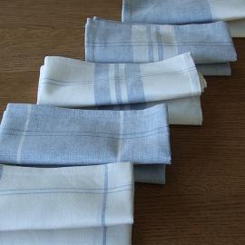 Ensemble de 2 torchons Florence en lin et coton bleus Due
