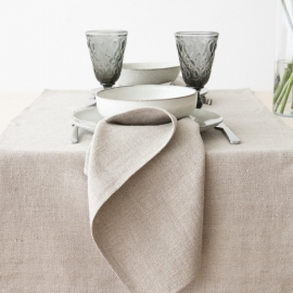 Set de table en lin Lara, tissé main, Silver