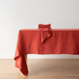 Serviette de table en lin Lara orange