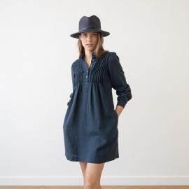 Tunique en lin Bleu de la Couronne Sophie