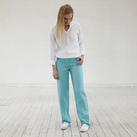 Pantalon en Lin Aqua Alma