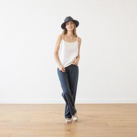 Pantalon en Lin Indigo Alma