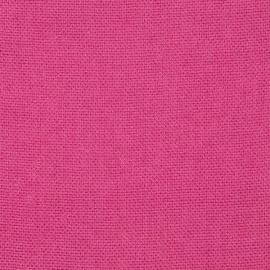 Toile de lin Rustico coloris rose vif