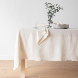 Chemin de table en lin Lara coloris Crème