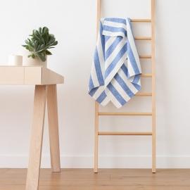 Blanc Bleu Serviettes de Bain en Lin Philippe
