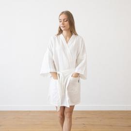 Robe Courte Alma en Lin White