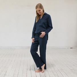Pyjama Alma en Lin Indigo