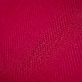 Toile de lin Herringbone Emilia coloris rose