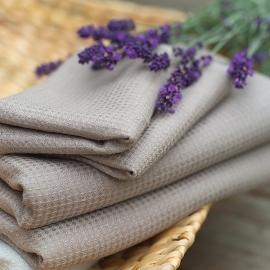 Drap de bain ou de douche en métis linb/cotton nid d'abeille