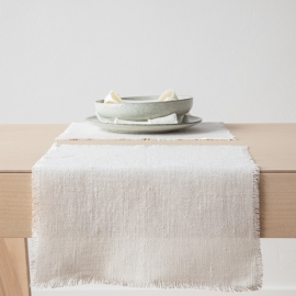 Set de Table Lin Blanc Cassé Rustique