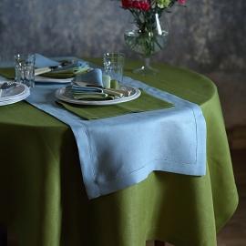 Nappe en lin coloris vert forêt Emilia