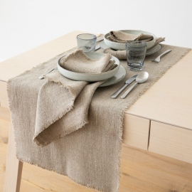 Naturel Chemin de Table en Lin Rustic