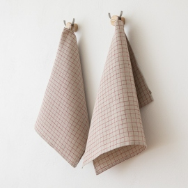 Ice Blue Linen Bath Towels and Hand Towels Washed Waffle