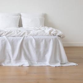 Blanc Pur Housse de Couette en Lin Stone Washed