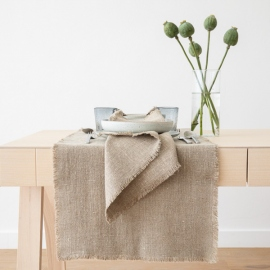 Serviette de table en lin Rustic Naturel Prélavé