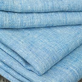 Toile de lin coloris bleu Francesca