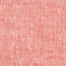 Toile de lin coloris rouge Francesca