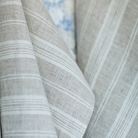 Échantillon de toile de lin bouleau à rayures multiples