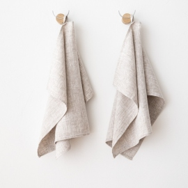 Lot de 2 Birch Serviettes Pour Les Mains en Lin Francesca