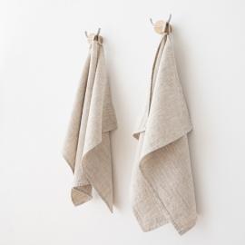 Lot de 2 serviettes d'invité en lin Naturel Provence