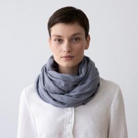 Écharpe estivale en lin Garza couleur gris clair