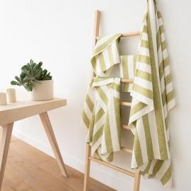 Ensemble de linge de bain 100% lin Lavé Philippe Green