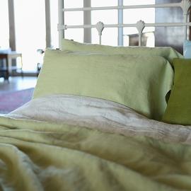 Taie d'oreiller de décor en lin Linum crème