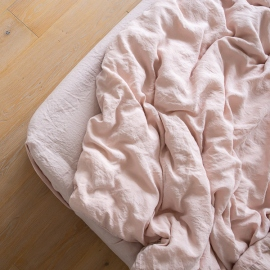 Rosa Drap Housse en Lin Stone Washed