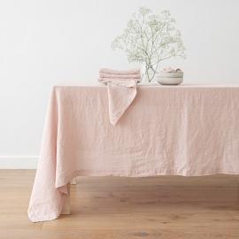 Nappe en lin, effet délavé, couleur Rosa