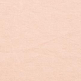 Rosa Échantillon de Toile de Lin Stone Washed