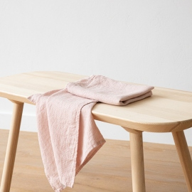 Lot de 2 Serviette de Toilette Rosa Lin Washed Waffle