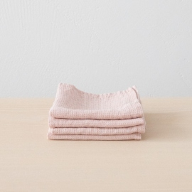 Lot de 4 Serviette de Toilette Rosa Lin Washed Waffle