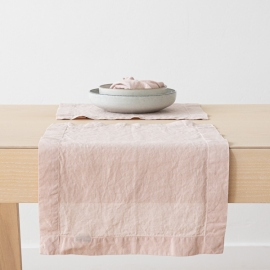 Set de Table en Lin Stone Washed Rosa