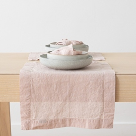 Set de Table en Lin Stone Washed Rosa