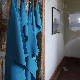 Ensemble de bain en lin lavé Lara Turquoise