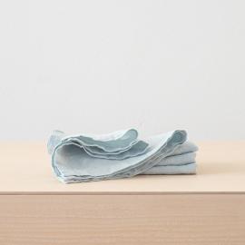 Serviettede Table en Lin Effet Délavé Ice Blue