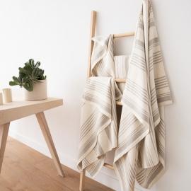 Ensemble de serviettes en lin Crème Linum