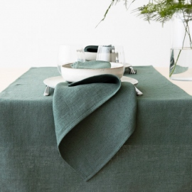 Chemin de Table en Lin Balsam Green Lara