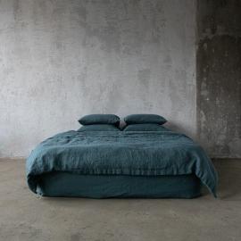Balsam Vert Housse de Couette en Lin Stone Washed