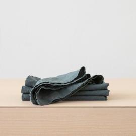 Balsam Vert Serviette en Lin Stone Washed